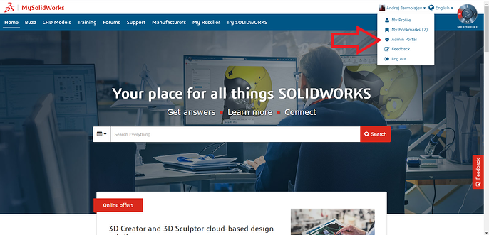 MySolidWorks Admin Portal