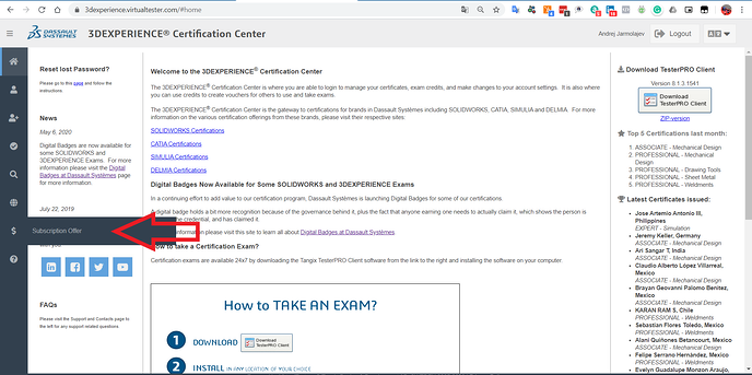 3DEXPERIENCE Certification Center Subscription Offer