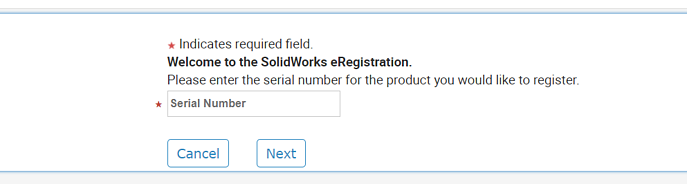 SOLIDWORKS Register My Products Serial