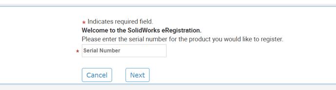 SOLIDWORKS programos registracija