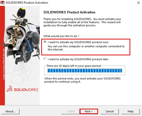 SolidWorks-Activation
