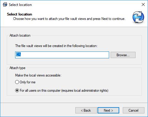 Select location
